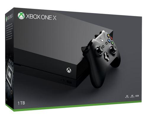 Console Microsoft Xbox One X 1 To Noir (+30€ sur le compte fidélité pour les adhérents)