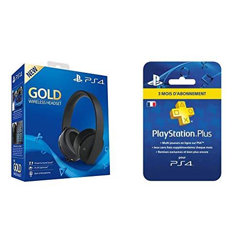 Casque sans-fil Sony Gold pour PS4 + 3 mois d'abonnement Playstation Plus (74.99€ avec le code FRENCHDAYS10)