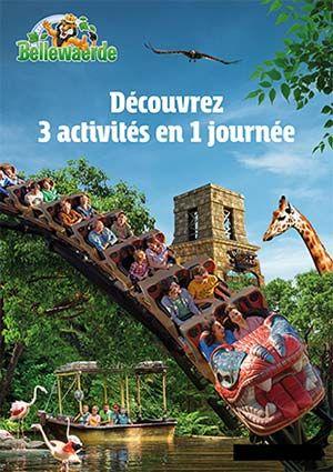 Entrée au parc d'attraction Bellewaerde (Frontaliers Belgique)