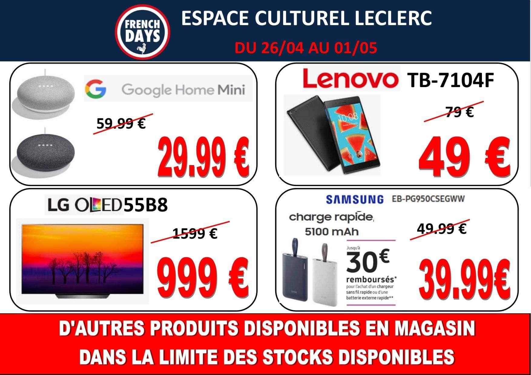 """Sélection d'articles en promotion - Ex : TV 55"""" LG OLED 55B8 - 4K UHD - Bellerive Sur Allier (03) / Langon (33)"""