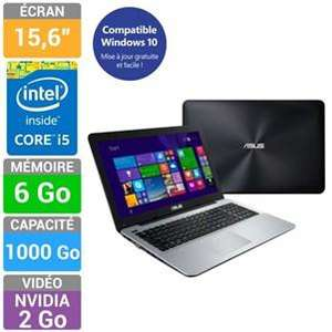 "PC portable 15,6"" Asus R556LJ-XX635H (1366 x 720, i5-5200U, 6Go RAM, 1 To, GeForce 920M 2Go)"