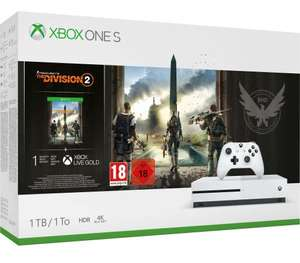 Manette offerte + 30€ sur la carte sur une sélection de Consoles Xbox One - Ex : Xbox One S 1To + The Division 2 + Gold 1M + Game Pass 1M
