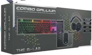 Pack Combo Gallium The G-Lab (Souris + Clavier + Casque + Tapis de souris)