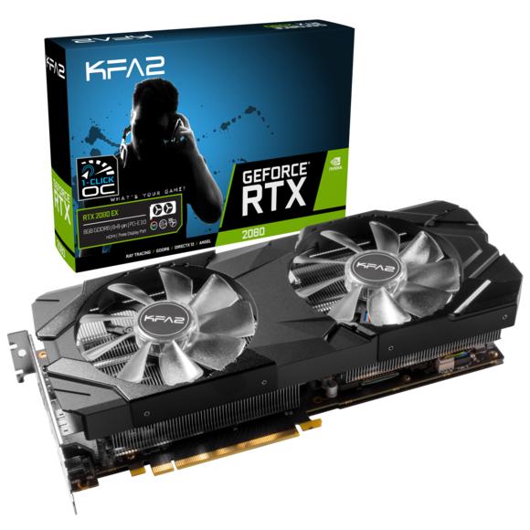 Carte Graphique KFA2 GeForce RTX 2080 EX 1click OC - 8 Go