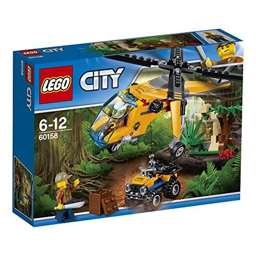 Jeu de Construction LEGO City - L'hélicoptère cargo de la jungle - 60158