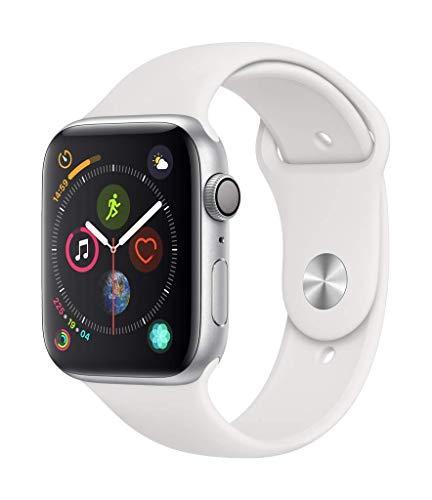 Montre connectée Apple Watch Series 4 - 40mm, Alu Argent, Bracelet Sport Blanc