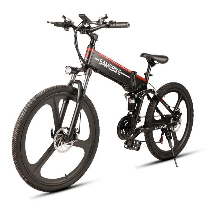 Vélo Electrique pliable Samebike LO26 - Prise EU, Noir (vendeur tiers)