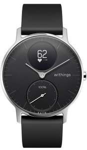 Montre connectée Withings Steel HR 40mm + Bracelet Cuir/Silicone