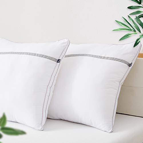 Lot de 2 Oreillers Moelleux BedStory - 60x60cm, Anti-Acarien, Hypoallergénique et Anti-Transpiration (Vendeur tiers)