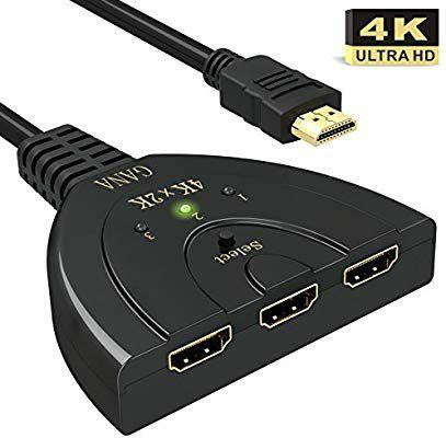 1 Switch HDMI 3 ports Gana acheté = 1 Commutateur HDMI 2 ports Gana offert (Vendeur tiers - Expédié par Amazon)