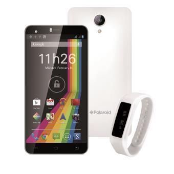 "Smartphone 5"" Polaroid Cosmos - Double SIM, 8 Go ROM + Bracelet connecté FitBand Blanc"