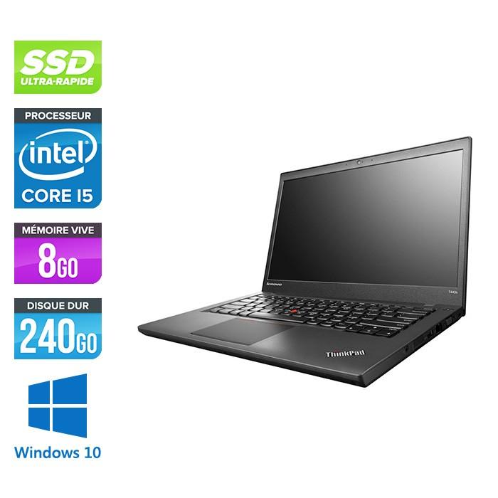PC Portable 14' Lenovo Thinkpad T440s - i5-4300U, 8 Go RAM, 240 Go SSD, Reconditionné