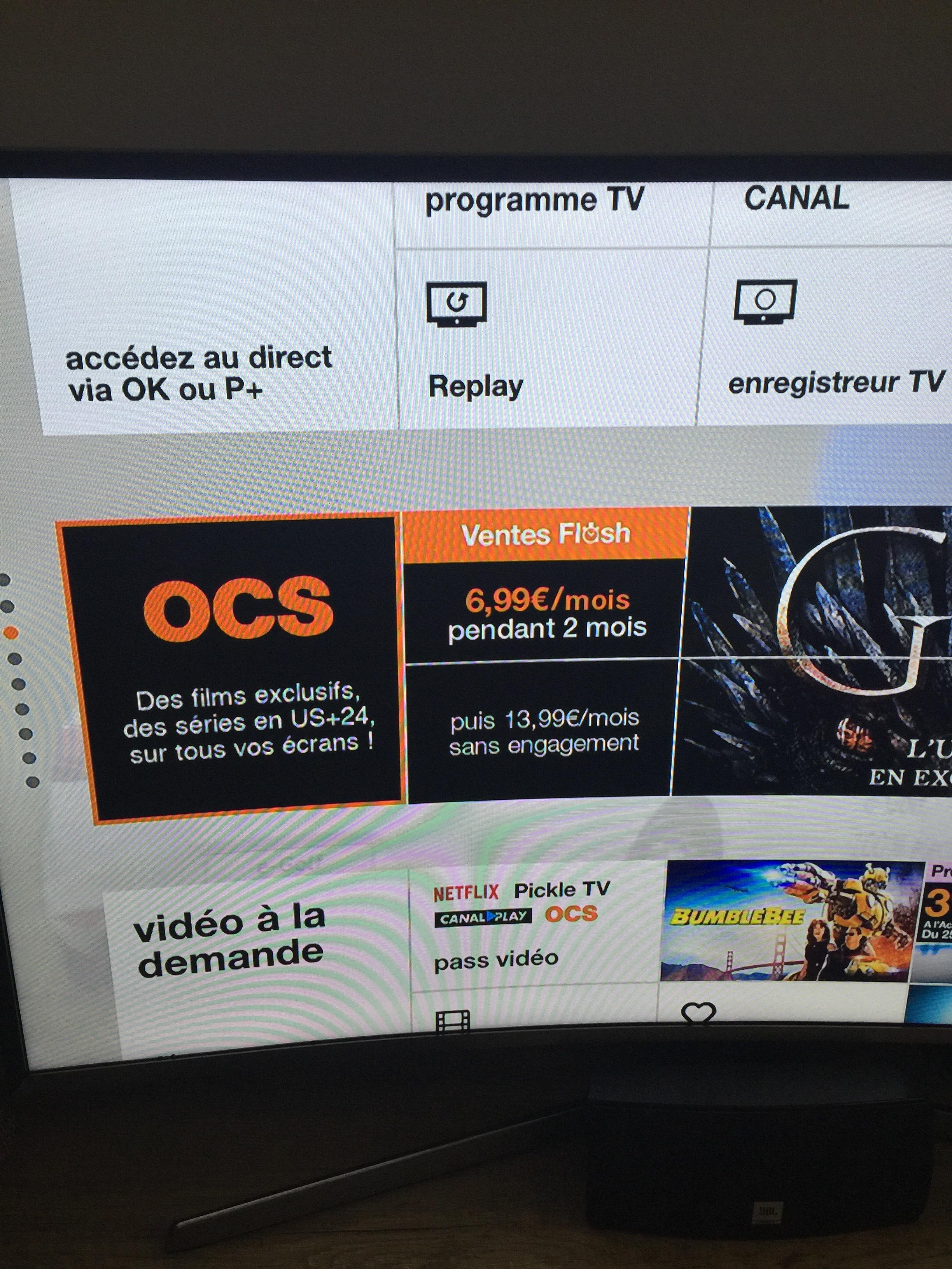 [Client Orange TV] Abonnement mensuel à OCS - pendant 2 mois (sans engagement)