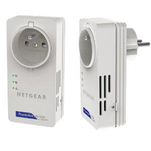 Pack de 2 prises CPL Netgear XAVB5601-100FRS 500Mbit/s avec prise femelle