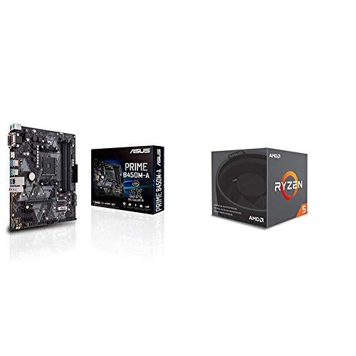 Processeur AMD Ryzen 5 2600 (3.4 GHz) + Carte mère Asus Prime B450M-A (Socket AM4)