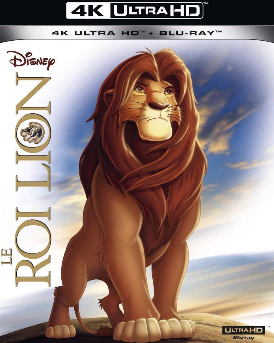 Blu-ray 4K film Le Roi Lion