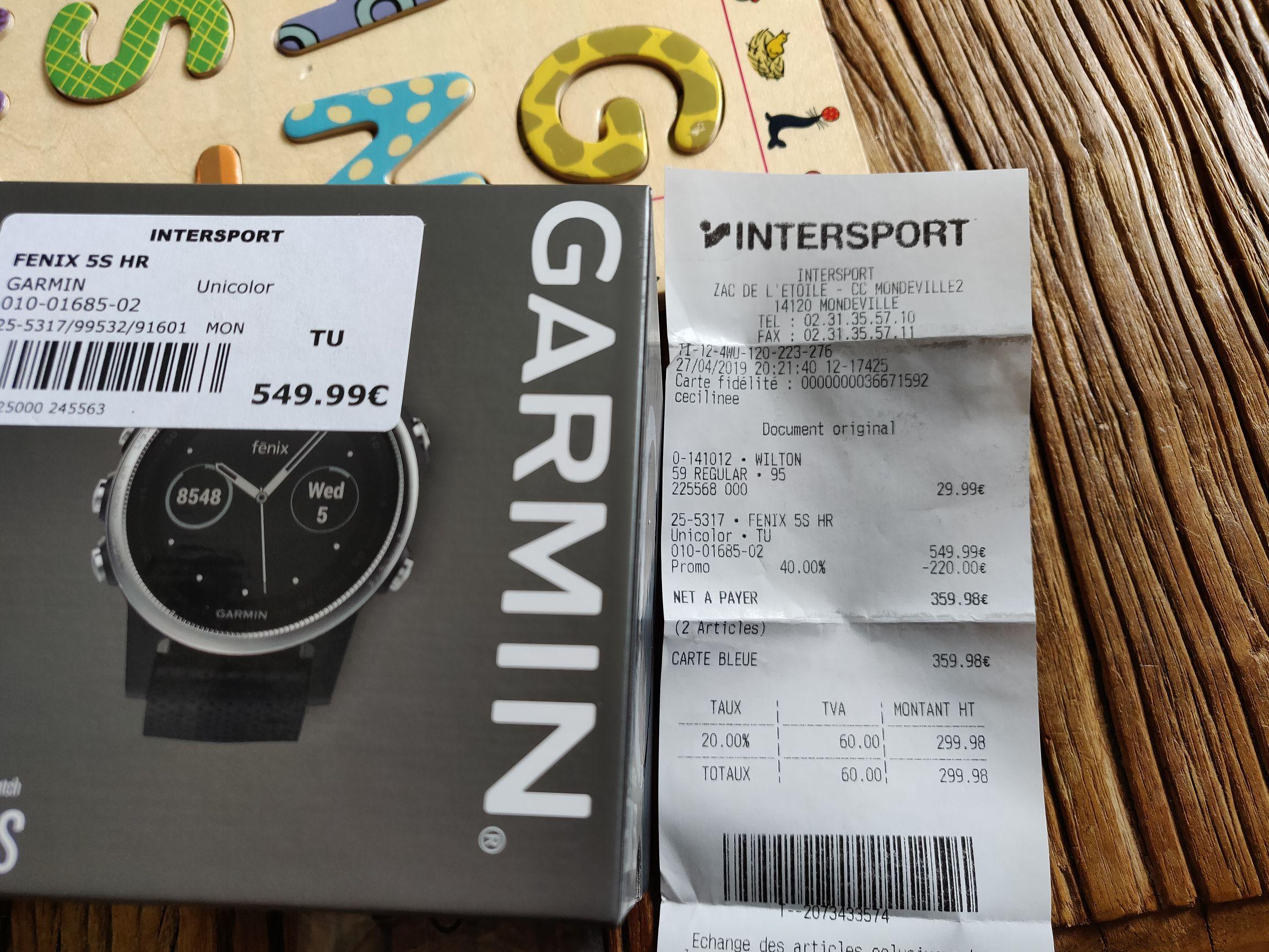 Montre GPS multisports Garmin Fenix 5s - Mondeville (14)