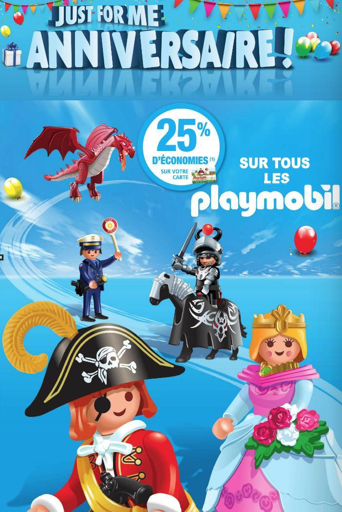 25% de réduction sur les Playmobil