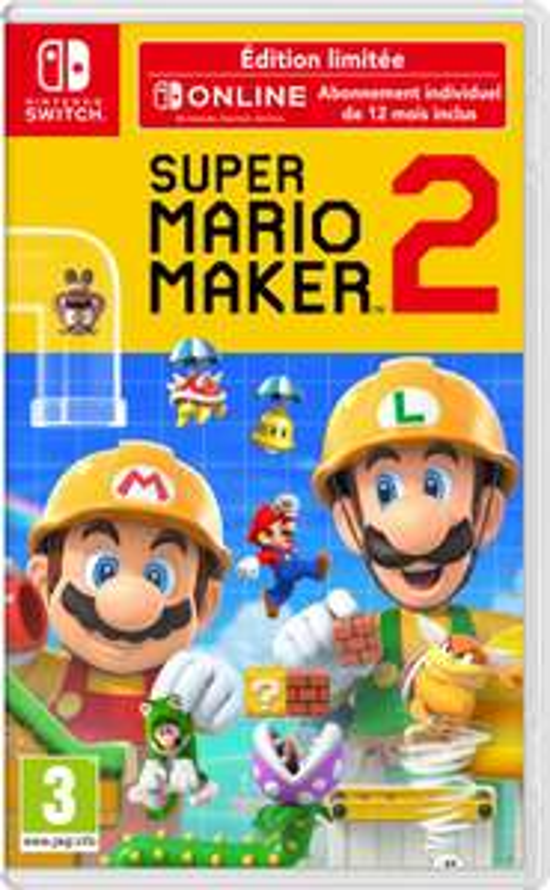 [Précommande] Super Mario Maker 2 Edition Limitée sur Nintendo Switch + Abonnement Online 12 Mois (+ 10€ en Fidélité pour les Adhérents)