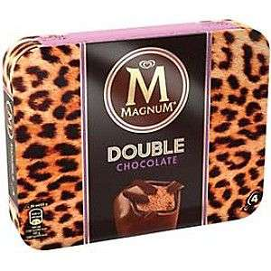 Lot de 4 Bâtonnets Glacés Magnum Double Chocolat (Via BDR)