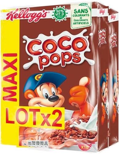 Lot de 2 paquets de Coco Pops - 2 x 550 g (Plusieurs variétés & grammages)