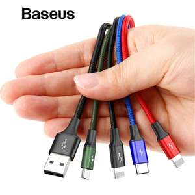Câble USB Baseus 4en1 - Lightning, MicroUSB, Type-C, MiniUSB