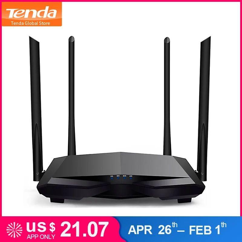Routeur Tenda AC6 2.4G/5.0 GHz - AC1200, Interface anglaise, Noir