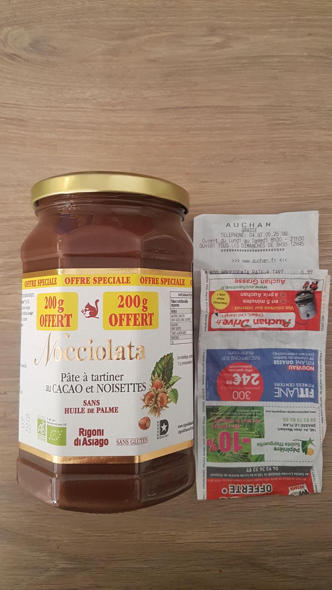Pâte à tartiner Bio Nocciolata 900g - Grasse (06)