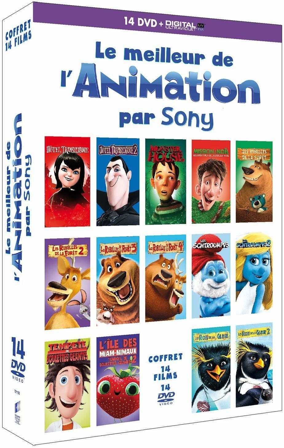 Coffret DVD 14 Films - Le Meilleur de l'Animation par Sony