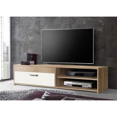 [Cdiscount à volonté] Meuble TV Katso chêne sonoma et blanc - 120cm