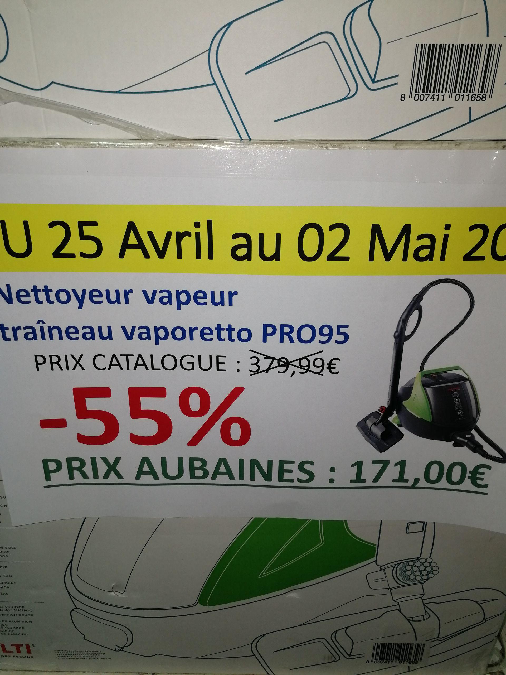 Nettoyeur vapeur Vaporetto Pro 95 - Les Aubaines Roubaix (59)
