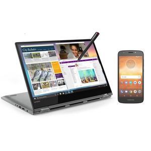 """[CDAV] PC Ultrabook Convertible 14"""" Lenovo Yoga 530-14ARR (FHD, Ryzen 5 , RAM 4Go, SSD 128Go, Win10) + Smartphone Motorola E5 Play"""