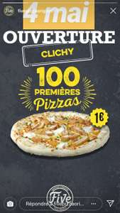 Pizza à 1€ pour les 100 premiers clients - Five Pizza Original Clichy-la-Garenne
