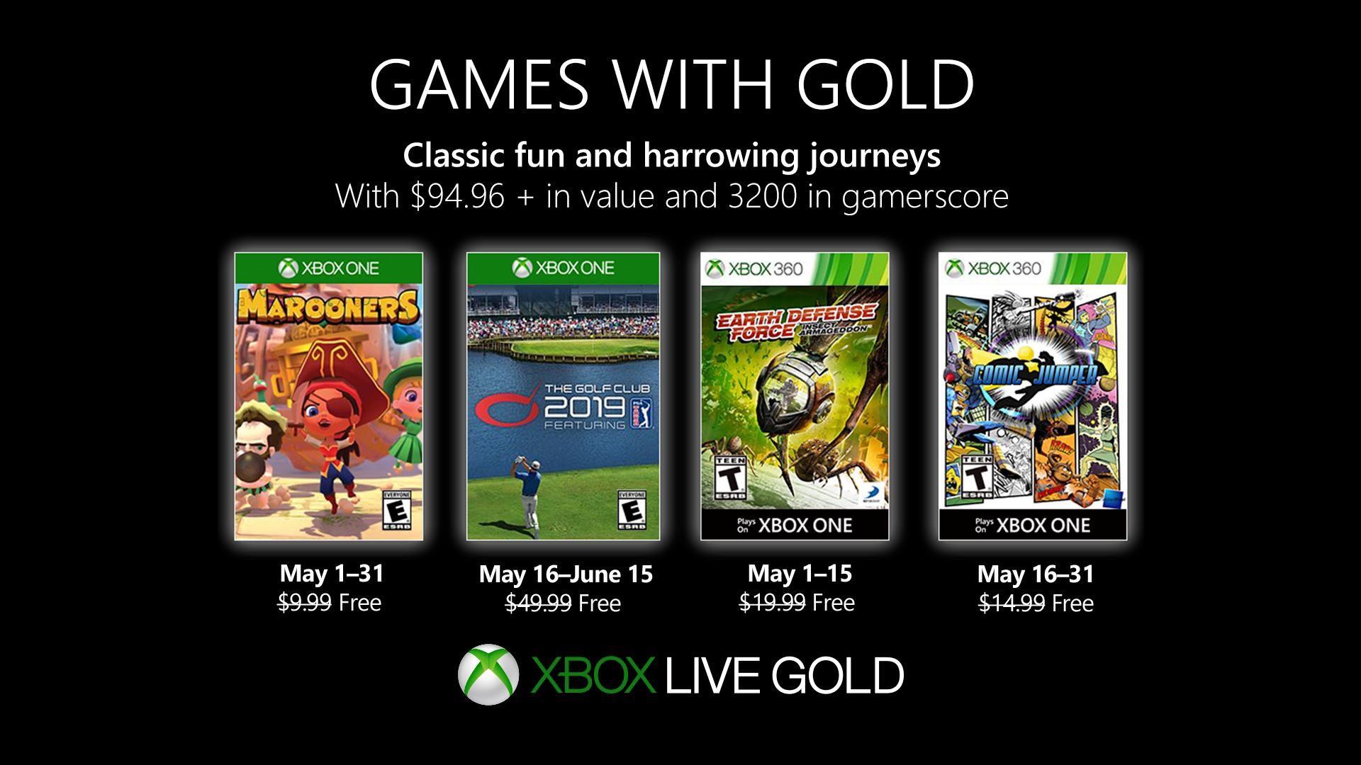 [Abonnés Gold] Sélection de jeux gratuits (Dématérialisés) - Ex : Marooners sur Xbox One