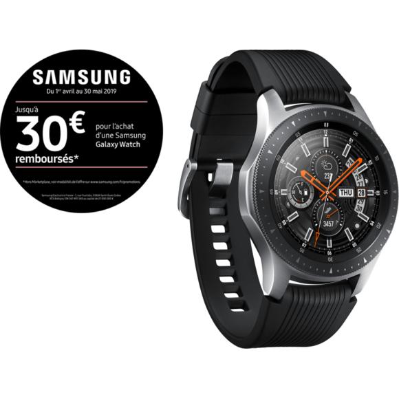 Montre connectée Samsung Galaxy Watch - Gris, 46mm (Via ODR de 30€)