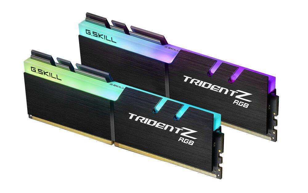 Kit mémoire RAM  G.Skill Trident Z RGB - 16 Go DDR4, 3200, CL16 (2x8 Go)