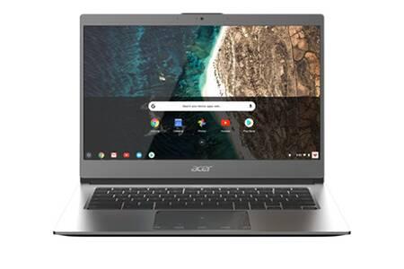 "PC Portable 14"" Acer Chromebook CB514-1HT-P605 (Full HD, Tactile, 4 Go RAM, 32 Go eMMC, Intel Pentium N4200) + Sac à dos (via ODR 80€)"