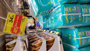 2 Paquets de couches Baby Dry Mega Pampers - Ex : 2 x 100 couches Taille 3, Auchan Valence (07)