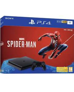 Pack console Sony PS4 1 To  (noire) + Marvel's Spider-Man Standard Edition