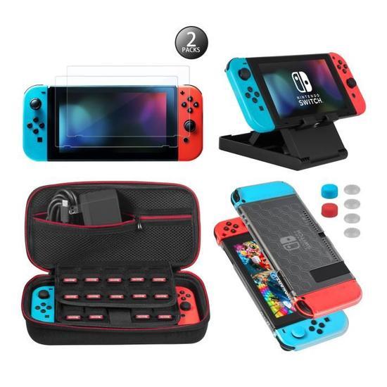 Kit d'Accessoires pour Nintendo switch avec sac de transport + protections d'écran (vendeur tiers)