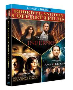 Coffret Blu-ray Robert Langdon - 3 films : Da Vinci Code +  Anges & Démons + Inferno