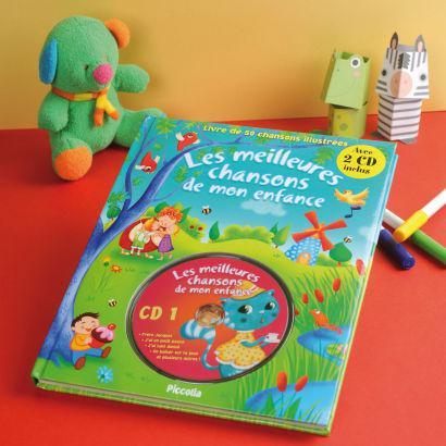Livre de chansons avec CD pour enfants (50 chansons illustrées)