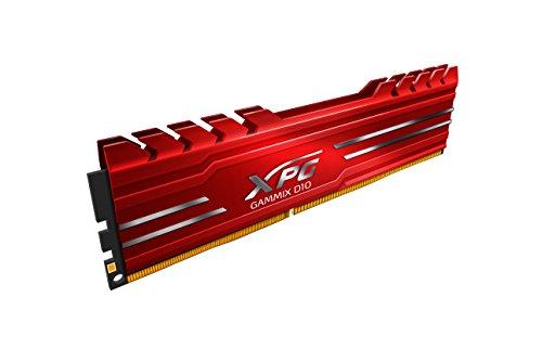 Mémoire RAM XPG Gammix D10 - 8 Go DDR4, 3000 MHz, 288-pin DIMM (Rouge)