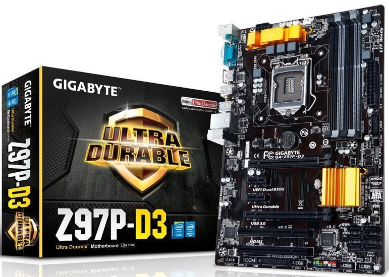 Carte Mère Intel ATX Intel Socket 1150 Gigabyte Z97P-D3