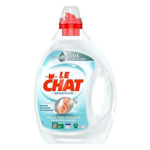Pack de 4 lessives liquides Le Chat Sensitive Zéro% - 160 lavages - 4 x 2 l