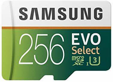 Carte microSDXC Samsung Evo Select Classe 10 U3 - 256 Go + Adaptateur SD