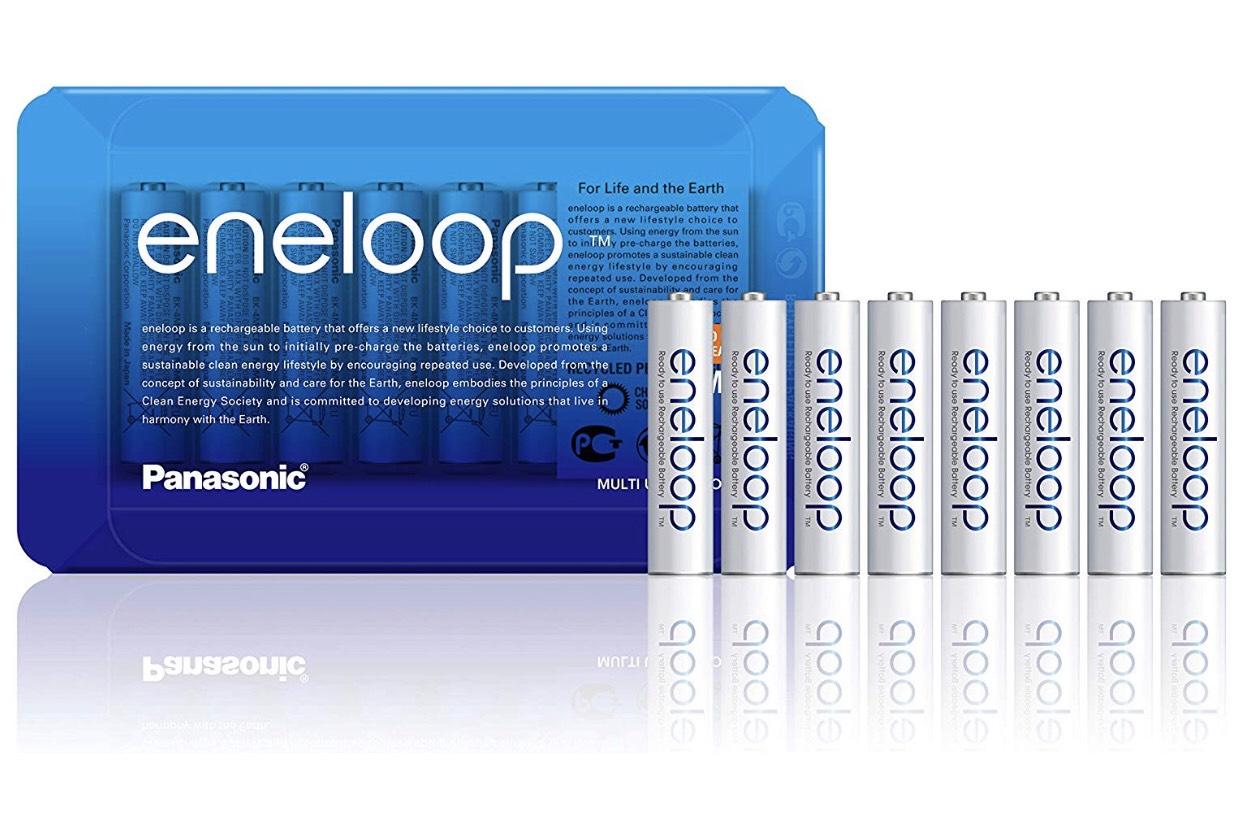 Lot de 8 Piles rechargeables NiMH Panasonic Eneloop avec boite de rangement AAA BK-4MCCE - 750 mAh (vendeur tiers)