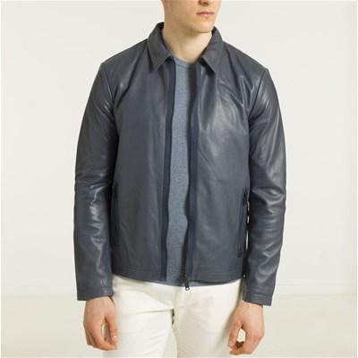 Veste en Cuir Chevignon - Bleue (Tailles au choix)