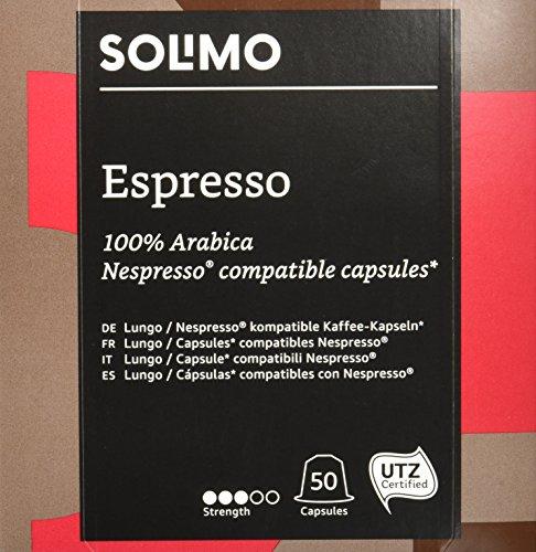 Lot de 100 Capsules Espresso Solimo compatibles Nespresso - 2 x 50