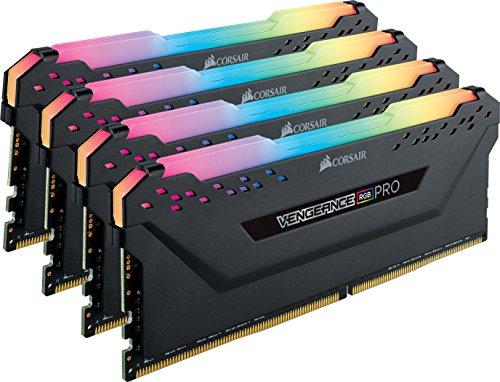 Kit mémoire RAM Corsair Vengeance RGB Pro - 32 Go (4 x 8 Go) DDR4, 3200MHz, C16, XMP 2.0